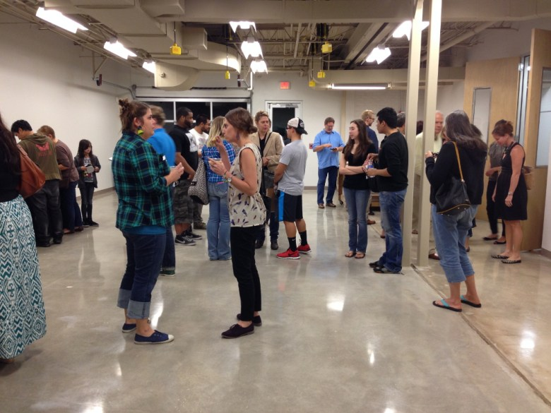 SSA visitors enjoyed a reception and tour of the new Sculpture and Integrated Media Studio following the talk. Photo by Taylor Browning.