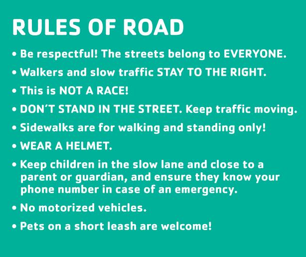 rules of the road siclovia