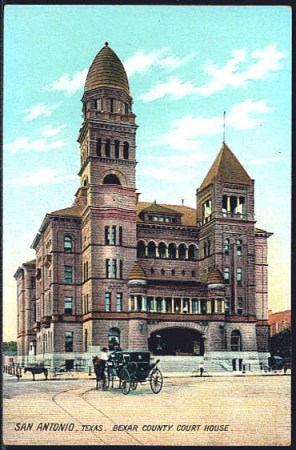 Bexar County Courthouse circa 1908. Courtesy of www.bexar.org.
