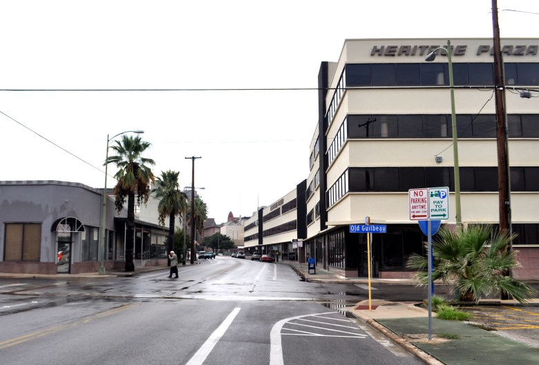 Heritage Plaza, a vacant office building, stretches north down South Main Avenue. Photo by Iris Dimmick.