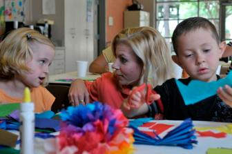 Children and staff at Clarity Child Guidance Center. Courtesy photo.