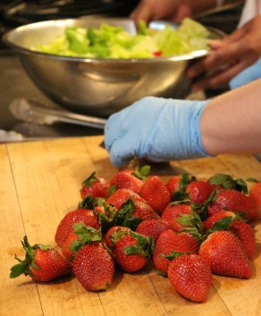 Cooking at home and using fresh, natural ingredients is one way to ensure food quality.