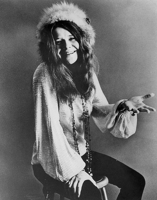 Janis Joplin poses for a publicity photo circa 1970. Public Domain.