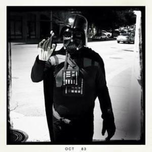 Darth Vader seen on Austin Street. Photo by Leslie Kelly.