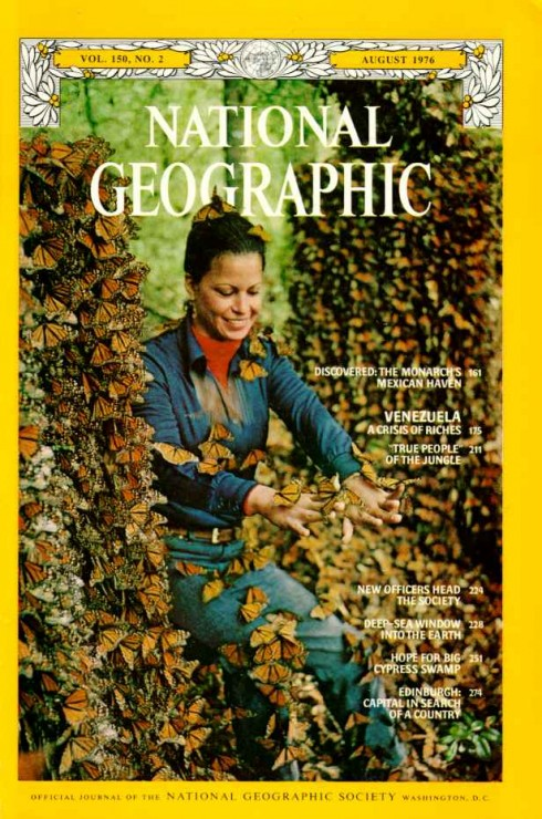 National Geographic cover of Monarch migration