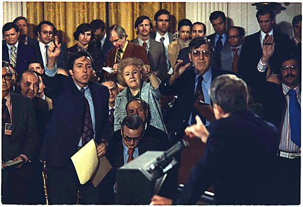 Richard M. Nixon press conference, October 26, 1973. White House Photo Office Collection, 01/20/1969 - 08/09/1974; Nixon Presidential Materials Staff, College Park, MD. (Public Domain)