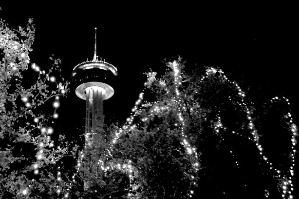 Tower of America on a winter night in December 2012. Photo by Iris Dimmick.