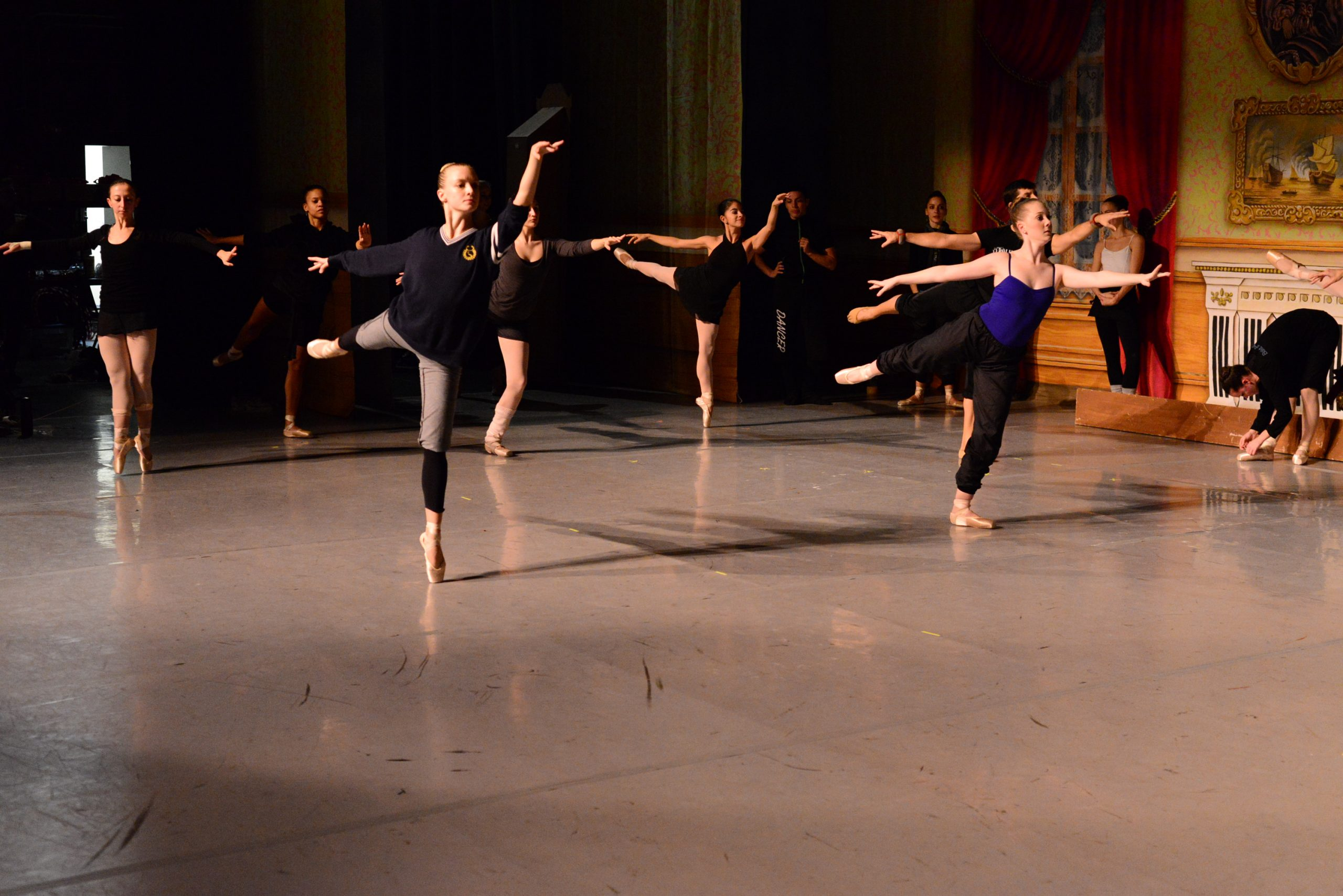"""Backstage at the Majestic with Ballet San Antonio during """"The Nutcracker"""" dress rehearsal. Photo by Page Graham."""