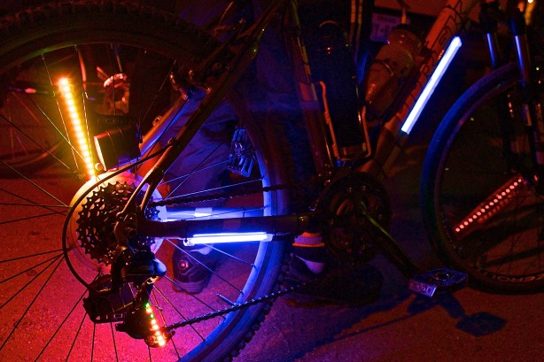 If you plan to ride at night, make sure you're visible and consider adding some custom lights to your rig.