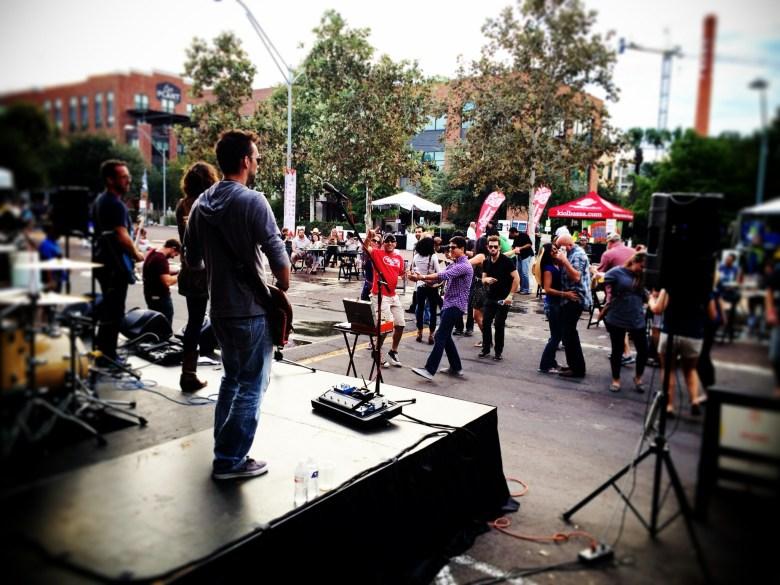 Spontaneous dance party at Meatopia last Sunday. Photo courtesy of Jeremy Karney.
