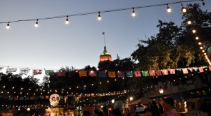The Tower Life Building as seen from La Villita during Día De Los Muertos 2013. Photo by Iris Dimmick.
