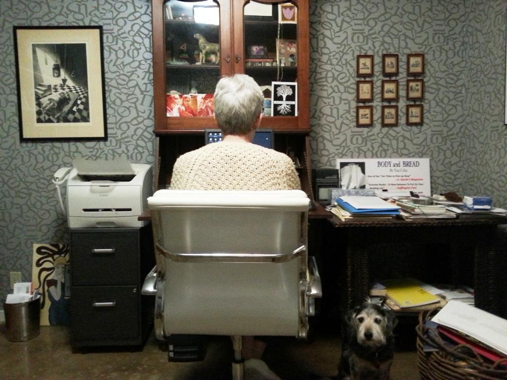 Nan at work. Courtesy photo.