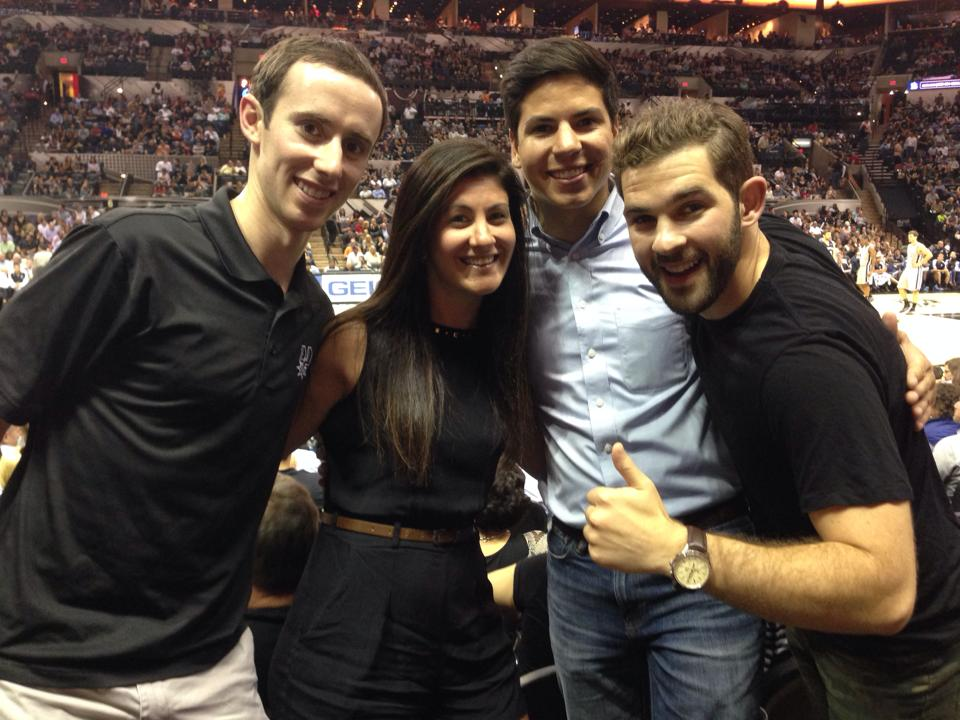 Millenials enjoying opening night of the San Antonio Spurs 2013-2014 campaign. Photo courtesy Kevin McCullough