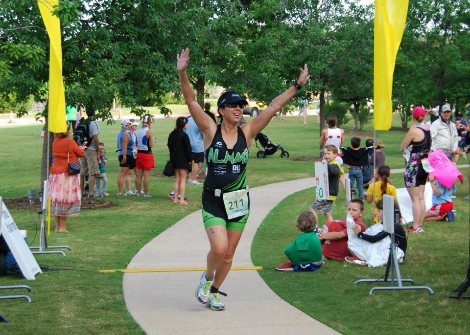 Danae Quijano crosses the finish line. Courtesy photo.