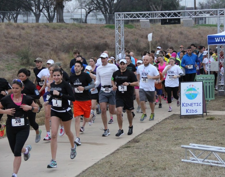 Runners from last year's 5K hit the road in support of the Kinetic Kids program. You can sign up now for their next 5K which will take place on Saturday, January 25.