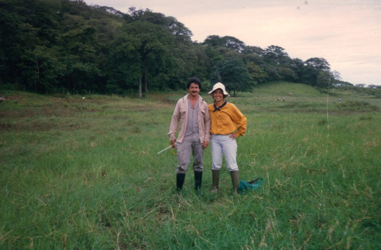 Cherise Rohr-Allegrini and her assistant/teacher, Rodolfo, doing field work in Cañas, Costa Rica. Courtesy photo.