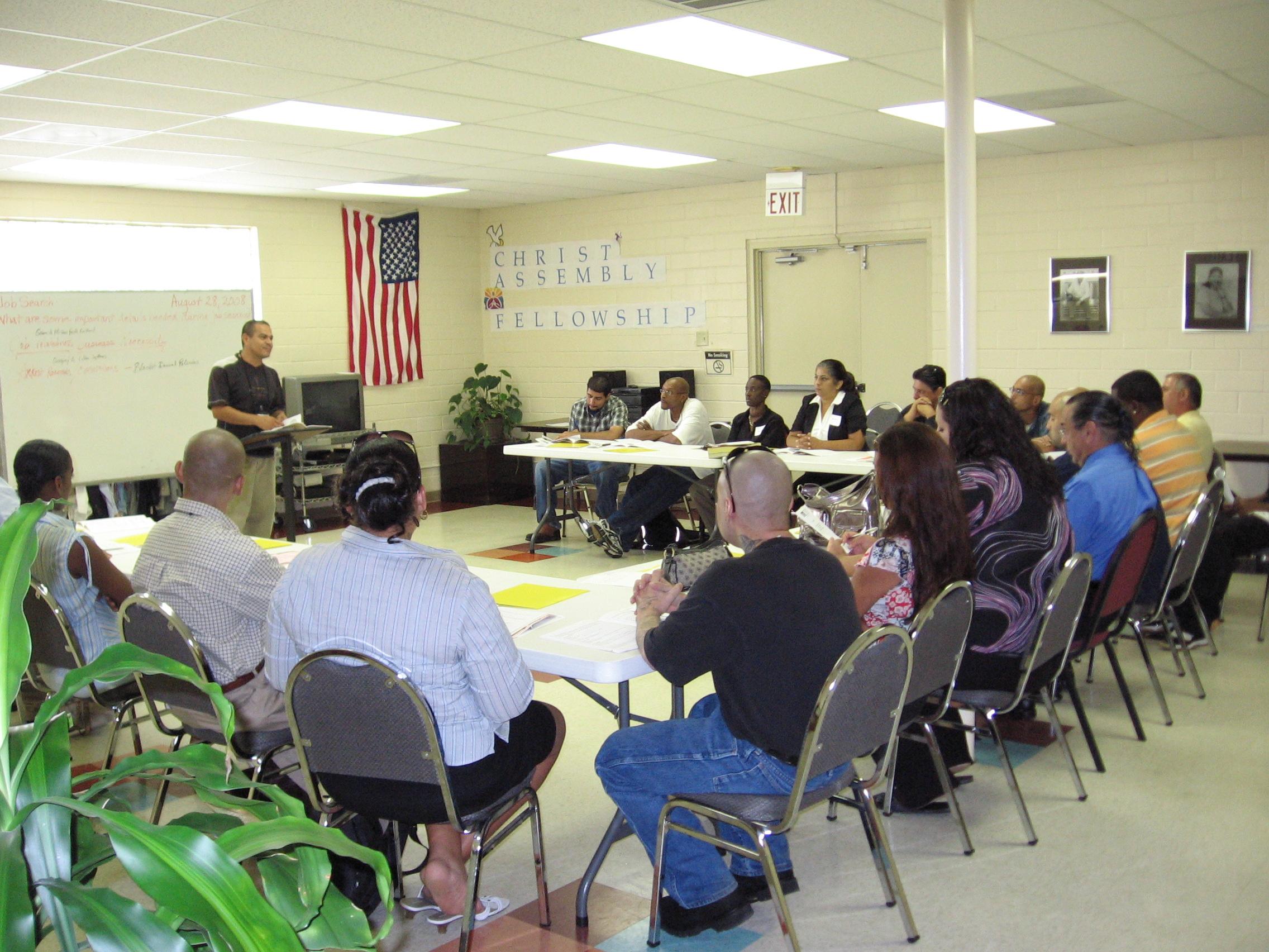 Chrysalis Ministries staff facilitates a four hour Job Readiness class. Courtesy photo.