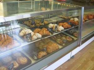Pastries await hungry customers at C'est La Vie Baking Company. Photo by Randy Bear.