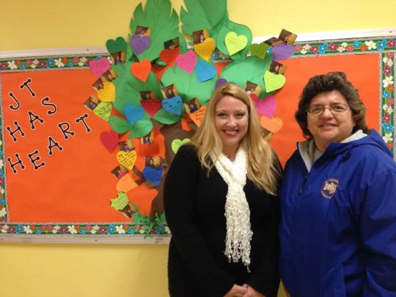 Melanie Zepeda and Gloria Martinez at JT Brackenridge Elementary School.