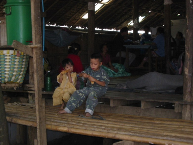"""Kids waiting for their sick parents, at the clinic of Shoklo Malaria Research Unit in Mae La Refugee Camp, along the Thai-Burma Border"""""""