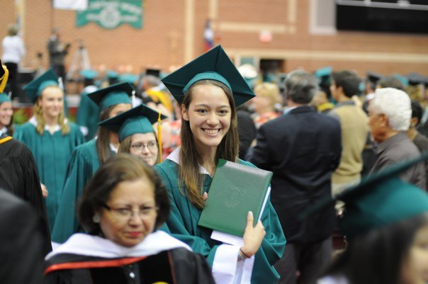 Graduating from high school. This is the face of joy and innocence. (Brett Calvert, San Antonio)