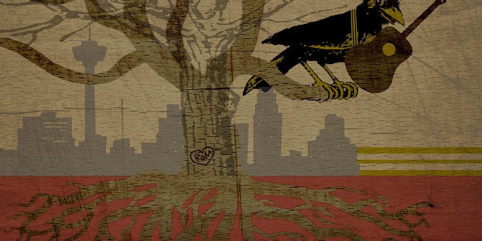 """Roots of San Antonio."" Donated artwork by Robert Tatum."