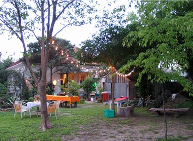 Sala Diaz Art Gallery's backyard. Where the magic happens. Photo courtesy of www.saladiaz.org.