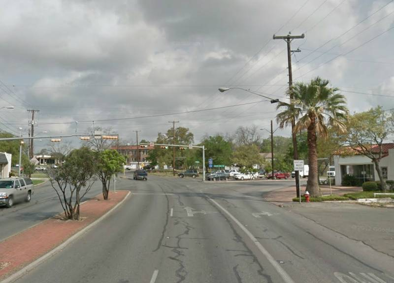 Current view of Broadway and Austin Hwy. Photo courtesy of Overland Partners.