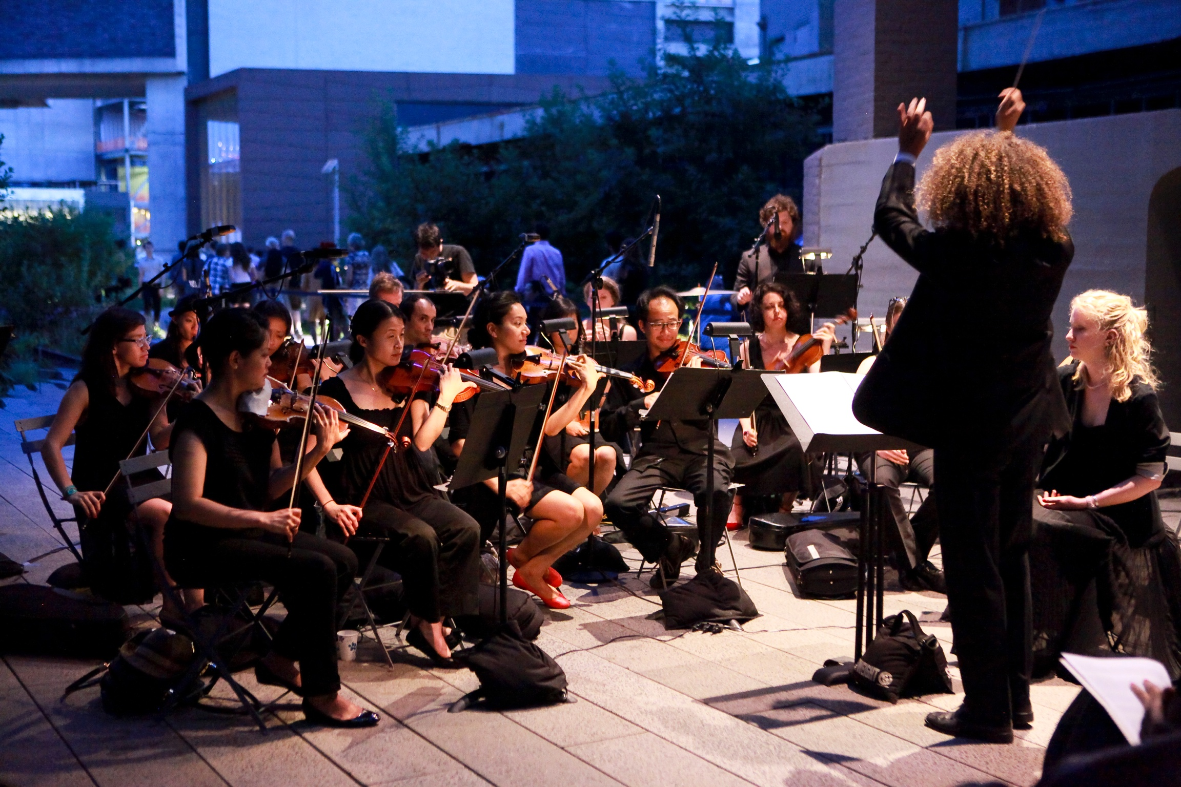 """""""Crickets"""" performed at the High Line in New York City in 2013. Courtesy photo."""