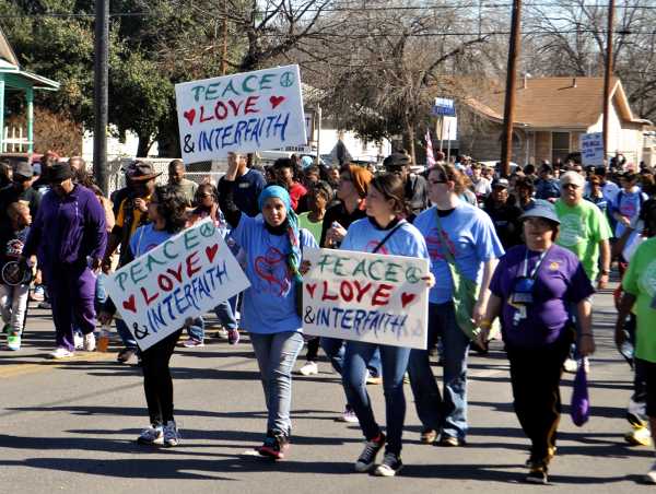 San Antonians take part in the 2014 MLK March. Photo by Iris Dimmick.
