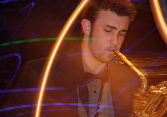 The colors of my sound captured while a member of the Trinity University Jazz Ensemble. Author photo.