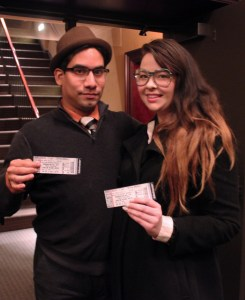 Young arts patrons show off their tickets to a recent ARTS SA event. Photo by Melanie Robinson.