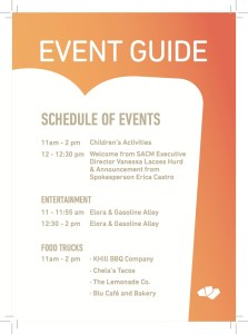 Jan. 25 event schedule for the Do Seum preview event.