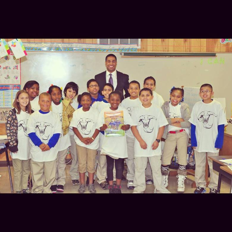 This photo brings back a lot of memories. I was reading to a 4th grade class at Cameron Elementary in this photo.