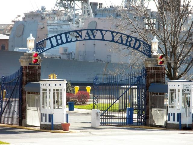 The Navy Yard gates. Photo courtesy of Philadelphia Industrial Development Corporation (PIDC).