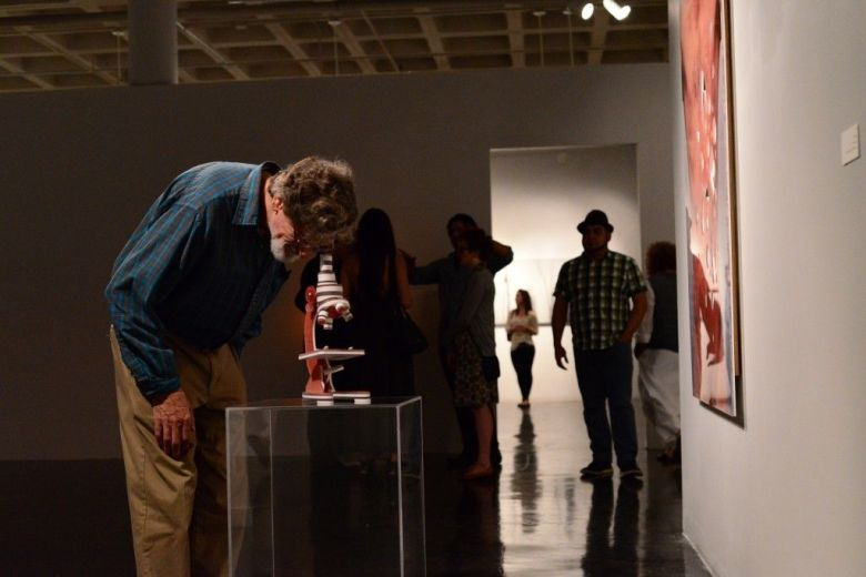 Opening reception of Chris Sauter's installation at Southwest School of Art. Photo by Page Graham.
