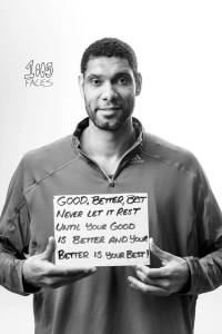 Forward for the San Antonio Spurs Tim Duncan poses for the 1005 Faces Project. Photo by Sarah Brooke Lyons.