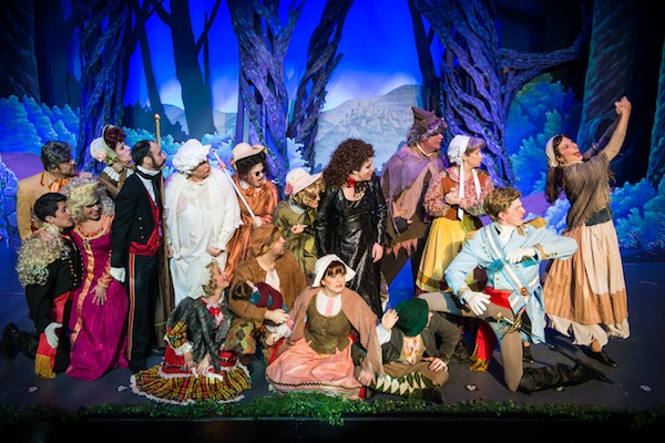 "Cast of ""Into the Woods"" at Woodlawn Theatre. Photo by Siggi Ragnar."
