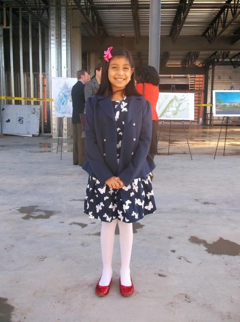 Kelly Elementary third grader Giselle Alcoser