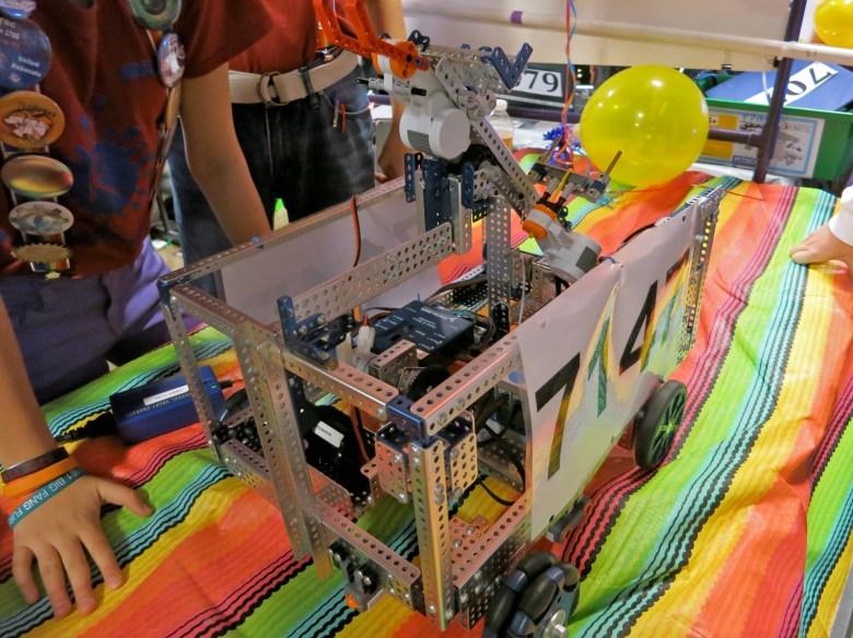The Randomists' 2014 FTC robot. Photo by Miriam Sitz.