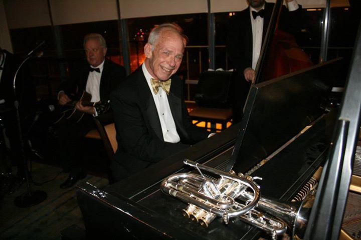 John Sheridan on piano for the Jim Cullum Jazz Band. Photo by Krysteen Villareal.