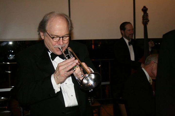 The man himself, Jim Cullum plays trumpet for swing dancers at Trinity University. Photo by Krysteen Villareal.
