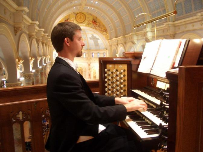 Dr. N.Seth Nelson performs a free concert of French Organ Music during the 2011 French Cultures Festival in San Antonio. Courtesy photo.