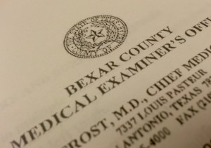 The Bexar County Medical Examiner's autopsy report of Robert Cameron Redus. Click image to download.