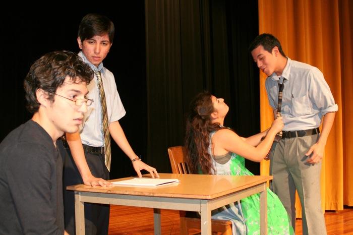Edison High School theater students rehearse for a play. Photo courtesy of SAISD.
