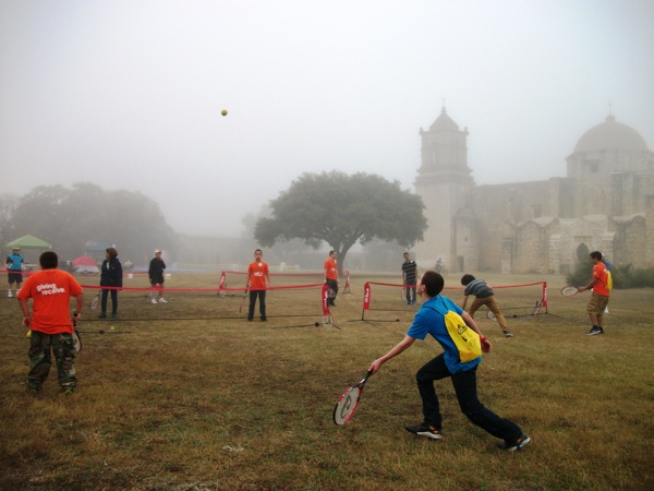 Activities and participants at the 2014 Get Outdoors! event at Mission San José. Photo by Carol Baas Sowa.