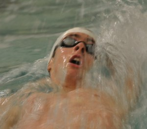 Competitive swimming was also among the many talents of Michael Goodgame. Photo courtesy of the Goodgame family.