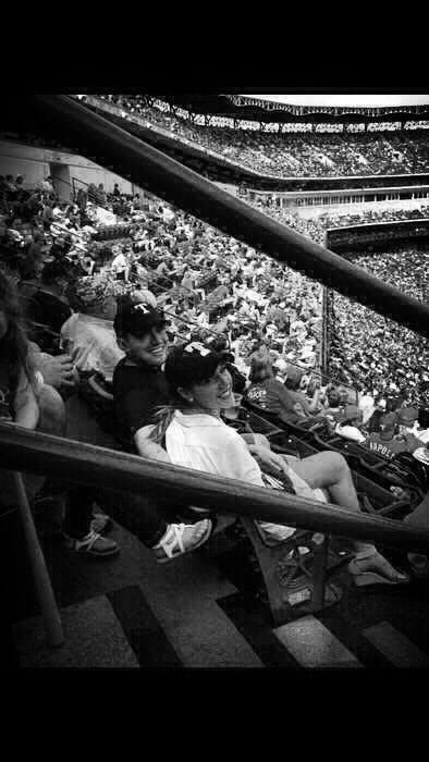Carlos Garcia and his wife, Jill enjoy a baseball game. Courtesy photo.