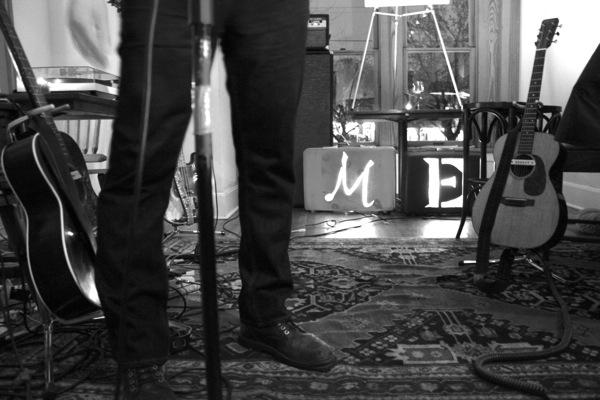 Joe Reyes' legs (and body) perform at Liberty Bar. Photo by Melanie Robinson.