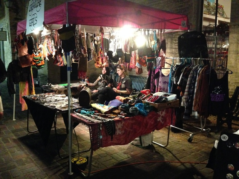 Vendors at the Bizarre Bazaar during the Maverick Music Festival. Photo by Taylor Browning.